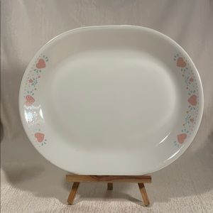 "Corelle Forever Yours Hearts & Flowers 12"" Platter"